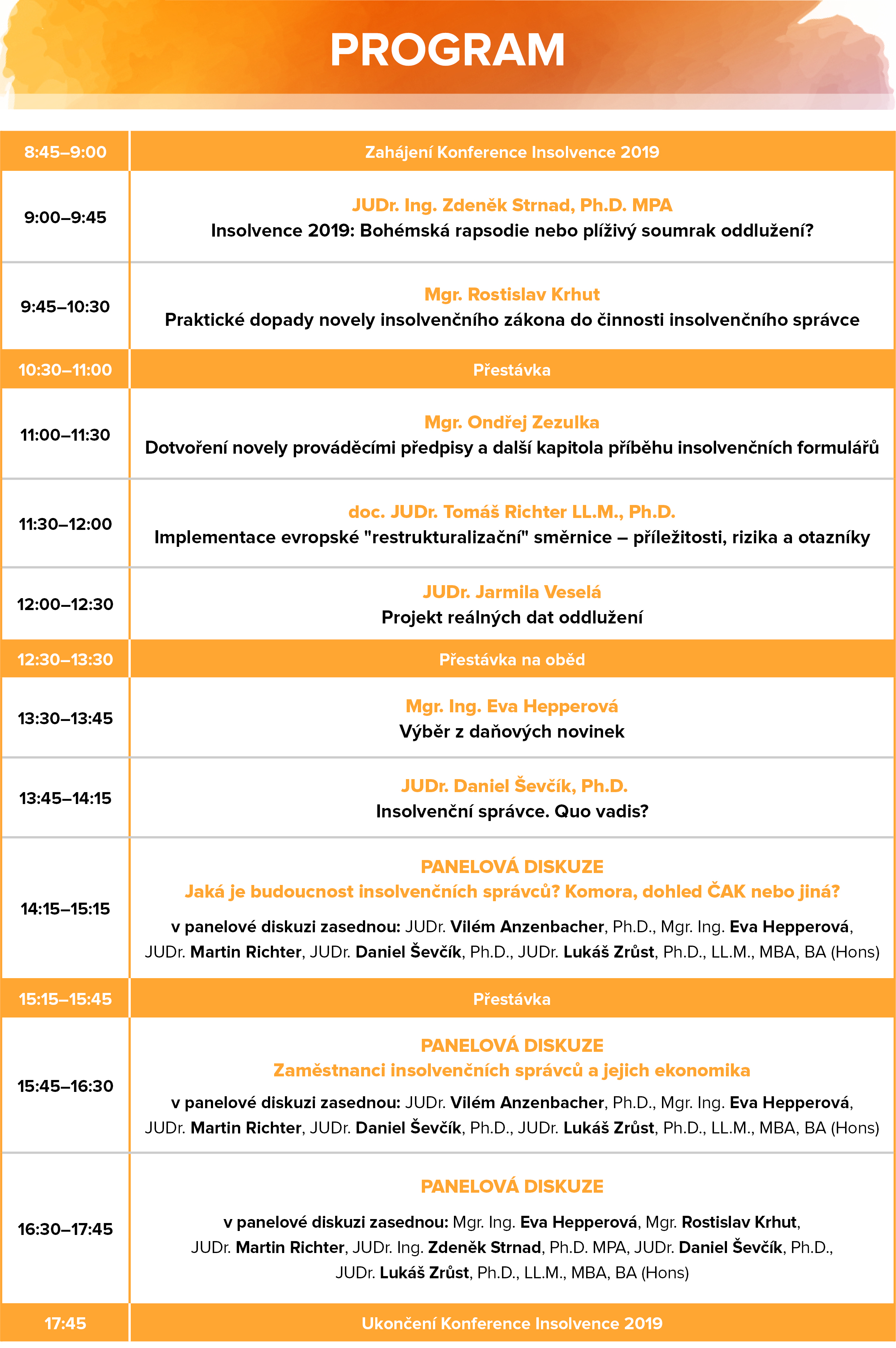 Konference Insolvence 2019 - Program